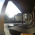 L'hôtel depuis le spa