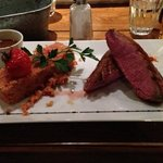 Duck with Chorizo and Quinoa served with gravy