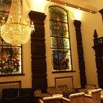 Nice glass painting (bar area)