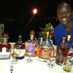 Dacia, the friendly manager of the Edge, conducting a rum tasting,