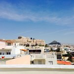 View of acropolis from roof deck