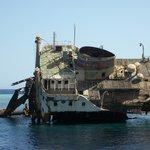 Ship wreck Tiran Island