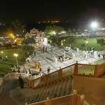 View at night from the staircase of the Mandir
