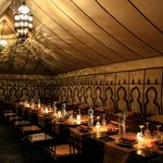 The dinner tent