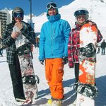 Happy Snowboarders