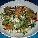 La salade poulet cacahuète trop trop bon!!...