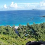 Anse lazio beach and guesthouse from the hill