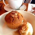 Banana walnut muffin