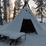 Tepee in the hotel grounds
