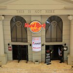 The entrance of the Hard Rock Cafe that has lost its' franchise
