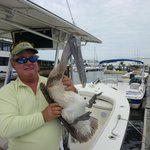 Mike holding a pelican!