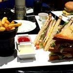 Club sandwich in the 'Zest Bar'