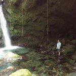 Beautiful falls, refreshing swim