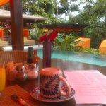 Breakfast by pool Nayara Springs