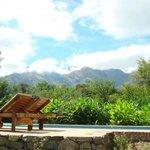 Piscina en el parque con parrila en la base del Cerro champaquí