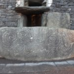 The spectacular Entrance Stone and Roof box at NEWGRANGE Burial tomb..