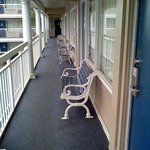 Balcony and Benches in out door hallways