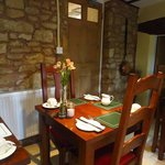 The breakfast dining area