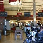 Inside Mulberry Tree restaurant