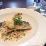 Sea bass for main course