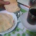 egyptian breakfast , eggs,tea, ful and tamiya