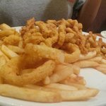 Clam strips - large portion and fresh