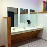 Mens shower house / restroom. Super clean!