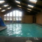 The very warm heated pool.