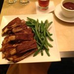 ribs at the restaurant. yum yum!!