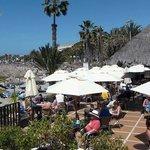 View of Playa and Mar Nostrum Beach Club Bar