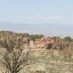 Part of a ancient Pueblo wall still standing