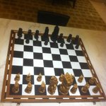 Chess Board in Lounge