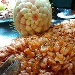 Coma camarão a vontade