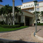 front entrance - under cover -