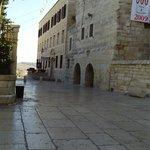 Entrada al hotel y a pasos del pesebre ,donde nació Jesús....
