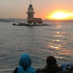 The most beautiful sunset in Istanbul