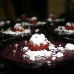 Lovely berry mousse as dessert