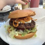 My husbands blue cheese burger!!! just as yummy