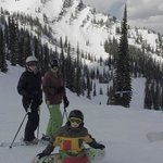 Family at the top of Timber Bowl Express