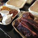 Gorilla BBQ...!! 2 blocks away!! highly recommended...