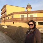 my beautiful and loving wife modeling in front of our room...