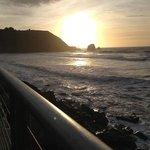 Enjoying the sunset... at Rockaway Beach!!