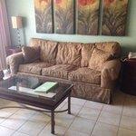 Worn couch