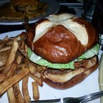Half and Half Burger and Fries