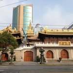 Temple across the street