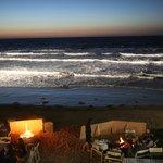 BBQ on the beach at night