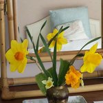 flowers add a homely touch
