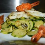 zucchini and shrimps