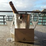 Champagne de boas vindas do hotel