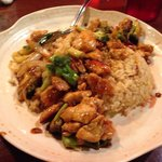 Chicken teriyaki with rice. Delicious!